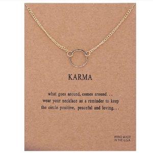 Jewelry - Dainty Gold Karma Necklace